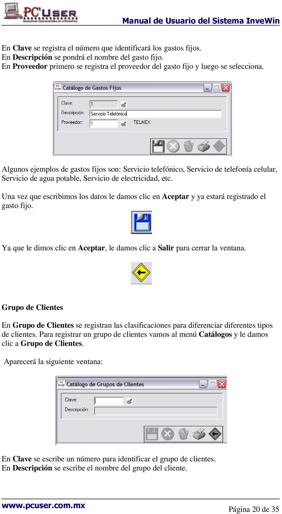 manual de usuario del sistema invewin pdf rh docplayer es