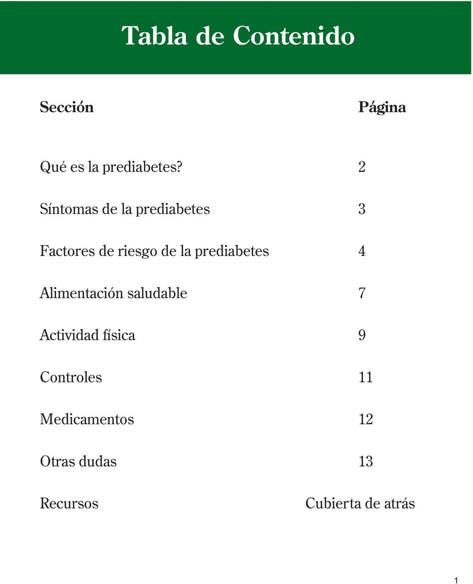 folleto de planificación de comidas pre diabetes