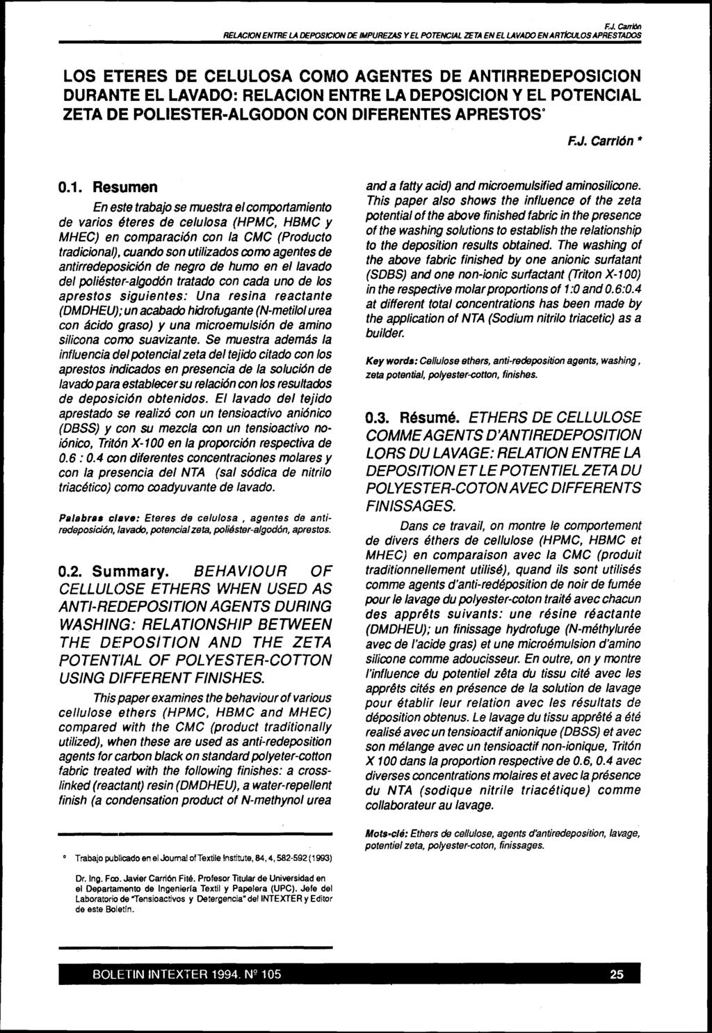 0.1. Resumen. Key words: Cellulose ethers, anti-redeposition agents ...